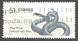 Sc. # 2273c Endangered Species #1, Blue Racer Snake, Ex. Souvenier Sheet Single Used 2006 K233