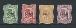 Finnische Besetzung AUNUS (Olonez) 1919 MiNr. 1-4 Xx Postfrisch - 1919 Occupation Finlandaise