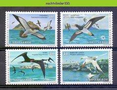 Mza023 FAUNA STORMVOGELS FRIGATE BIRDS VÖGEL AVES OISEAUX CABO VERDE 1993 PF/MNH