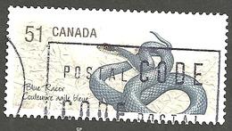 Sc. # 2173c Endangered Species #1, Blue Racer Snake, Ex. Souvenier Sheet Single Used 2006 K237