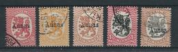 Finnische Besetzung AUNUS (Olonez) 1919 MiNr. 2 , 3 , 5, 6, 8 Gestempelt