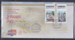 Singapore 2015 Joint Issue With France, Street Art FDC