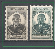 COSTA  DEI SOMALIS  1945 Governor Eboue * (O)  SEE SCAN PLEASE SOME HINGED - Côte Française Des Somalis (1894-1967)