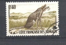COSTA  DEI SOMALIS    1958 Fauna Acinonyx Jubatus.* - Gebruikt