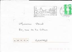 INDRE ET LOIRE 37 - BOURGUEIL - FLAMME : BOURGUEIL / SA CAVE SON PLAN D'EAU / SES VINS. - THEME VINS  1971 - Marcophilie (Lettres)