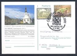Austria 1991 Postal Stationery Card; GMÜnd  Frog Frosch Grenouille Rana; Fair Messe Church Kirche - Weltausstellung