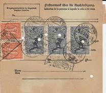 DR INFLA 1921 PAKETKARTE  BERLIN48   PARIS  Mif 64,80DM   PK2 - Germany