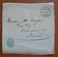 Cover - Envelope - Letter - Fragmento De Faja Postal 1906