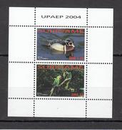 2004 Surinam Birds Ducks Parrots UPAEP Complete Miniature Sheet Of 2   MNH