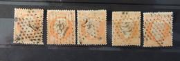 France  40c Orange Oblitéré étoile Muette - 4 - 18 - 22 - 24