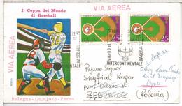 ITALIA ROMA COPA DEL MUNDO DE BEISBOL BASEBALL DEPORTE 1973
