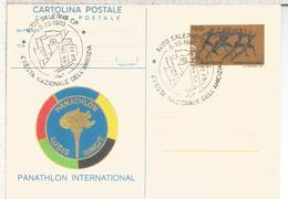 ITALIA ENTERO POSTAL PANATHLON DEPORTE ATLETISMO