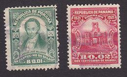 Panama, Scott #221-222, Used, Vallarino, Land Gate, Issued 1921 - Panama