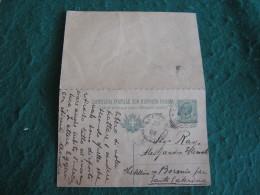 Regno Italia  Cartollina  Postale Con  Risposta  Pagata    - 1909 ANNULLO   S CATERINA VALFURVA  LECCO COMO  -  157