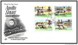 7671/ Espace (space) Lettre (cover) 15/7/1975 Launch APOLLO Soyuz (soyouz Sojus) Fdc Football (Soccer) Overprint Ghana
