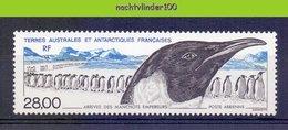 Mza027 FAUNA VOGEL PINGUIN PENGUIN BIRDS VÖGEL AVES OISEAUX TAAF TERRES AUSTRALES ET ANTARCTIQUES FRANCAISES 1994 PF/MNH