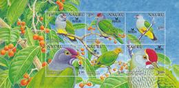 2005 Nauru Birdlife International Birds Parrots 3 Miniature Sheet Of 6   MNH