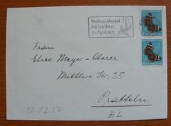 Cover - Envelope - Letter - Sobre De Suiza 1950 - Weihnachtspost Beizeiten Aufgeben - Mariposa - Suisse