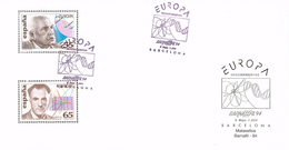 24358. Tarjeta Recorte Documento Filatelico Barcelona 1994. Barnafil, Descubrimientos - 1931-Hoy: 2ª República - ... Juan Carlos I