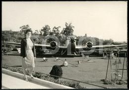 1967 REAL ORIGINAL PHOTO FOTO AVION PLANE JUNKERS AIRCRAFT PARQUE INFANTIL EVORA ALENTEJO PORTUGAL CP10 - Aviation