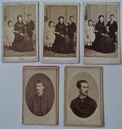 Louis Bertrand, Sa Jeunesse, 5 Photos, 1873-82-84 - Célébrités