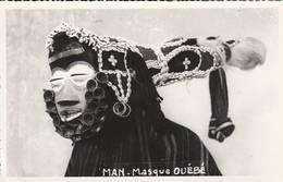 Cote D'Ivoire - RARE -  Cpsm (petit Format)  - Man Masque OUEBE - Scan Recto-verso - Ivory Coast