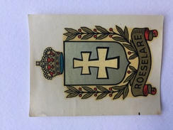 """ROESELARE , ROULERS """" Rare Décalcomanie  Ancienne Année 50 , Blason """". - Roeselare"""