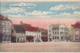 Poperinghe - Groote Markt (westkant) Gekleurd, Estaminet, Restaurant,...