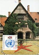 """DDR Halbamtl. Maximumkarte Mi-Nr. 2982 ESSt. BERLIN 22.10.85 """"40 Jahre Vereinte Nationen (UNO)"""""""