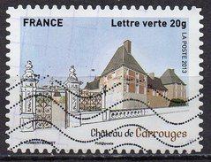AA871 - Série Patrimoine : Château De Carrouges - Oblitéré - Année 2013 - Gebruikt