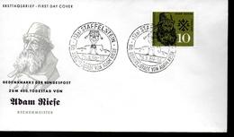 ALLEMAGNE     FDC    1959   Riefe Adam Mathematicien Mathematique