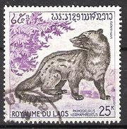 Laos 1971 Animals, Asian Palm Civet Paradoxurus Hermaphroditus   Mi 318, Cancelled(o)