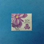 2005 AUSTRALIA FRANCOBOLLO USATO STAMP USED - Flora Fiori Common Fringe Lily 50 C