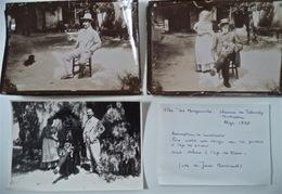 Louis Bertrand Et Son Père, 3 Photos, Alger 1898 - Célébrités