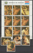 Paraguay 1987 Paintings Rubens Sheetlet + 4 Stamps MNH