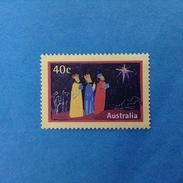 1998 AUSTRALIA FRANCOBOLLO USATO STAMP USED - Natale Christmas 40 C