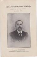 HERSTAL-LES ARTISANS REUNIS DE LIEGE-LAMBERT COMPERE+1908-CHEF DE SECTION-CARTE VIERGE-RARE-VOYEZ LES 2 SCANS ! ! ! - Herstal