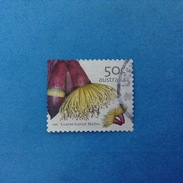 2005 AUSTRALIA FRANCOBOLLO USATO STAMP USED - Flora Fiori Coarse Leaved Mallee 50 C