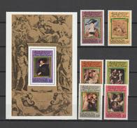 Grenada - Grenadines 1978 Paintings Rubens Set Of 6 + S/s MNH