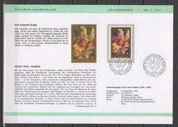 Liechtenstein 1976 Paintings Rubens Set Of 3 Commemorative First Day Prints