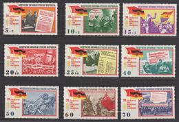 DDR / 20. Jahrestag Der Befreiung Vom Faschismus / MiNr. 1102-1110