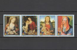 Paraguay 1988 Paintings Rubens, Dürer, Christmas Strip Of 4 MNH
