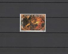 Sao Tome E Principe (St. Thomas & Prince) 1988 Paintings Rubens, Christmas Stamp MNH