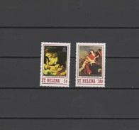 St. Helena 1988 Paintings Rubens, Christmas 2 Stamps MNH