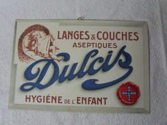 Plaque Carton Langes Et Couche Dulcis, Ancien ? - Paperboard Signs