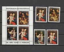 Sao Tome E Principe (St. Thomas & Prince) 1977 Paintings Rubens Set Of 4 + S/s MNH
