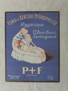 Plaque Carton Fond De Berceau Hydrophilisé,  Ancien ? - Paperboard Signs