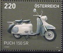 2017 Österreich Austria  Mi. 3342**MNH   Motorroller Puch 150 SR - 1945-.... 2ème République