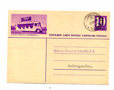 Carte Postale 10 C Cachet Helsenrohr Illustré Bus Postal