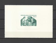 Rwanda 1975 Paintings Rubens, Christmas S/s Imperf. On Thick Paper MNH -scarce-